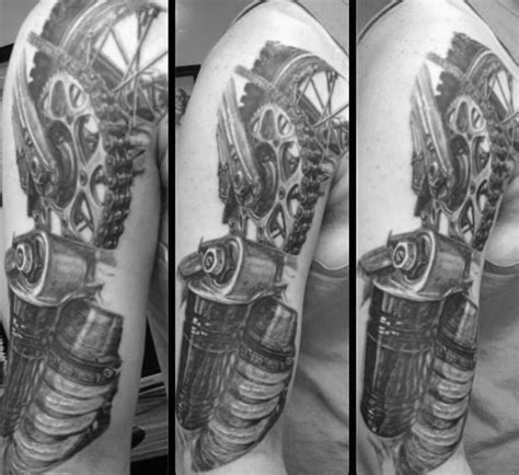 motocross tattoos  men dirt bike design ideas