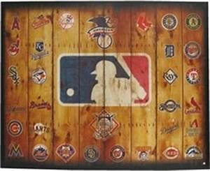 mlb logos canvas wall art shop hobby lobby With what kind of paint to use on kitchen cabinets for hobby lobby canvas wall art