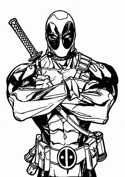 Marvel Coloring Pages Deadpool Drawing Superhero Lego