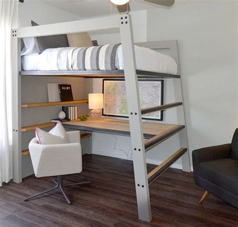 10 Best Loft Bed With Desk Designs by Best 25 Loft Bed Desk Ideas On Bunk Bed With