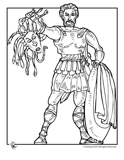 fantasy jr greek myths coloring page perseus