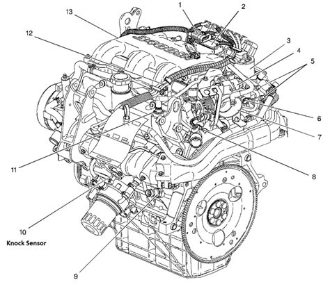 2002 Pontiac 3 4 Engine Cooling Diagram by Where Is The Location Of The Knock Sensor On A 2000