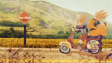 Dragon Ball Wallpaper 1920x1080 Son Goku Anime Son Gohan Dragon Ball Z Motorbikes Wallpapers
