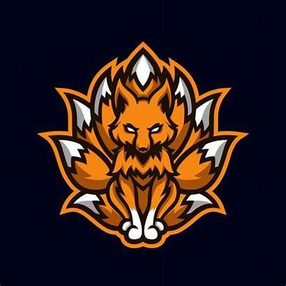 Fox Esport Orange Mascote Gaming Premium Ninetails