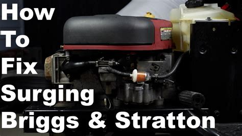 fix briggs stratton surging engine nikki
