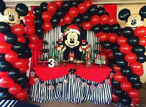 mickey mouse christmas birthday boy birthday party ideas