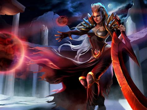 video game league  legends characters blood moon diana
