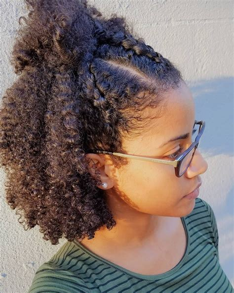 quot wash and go with three cornroll braids in front this was