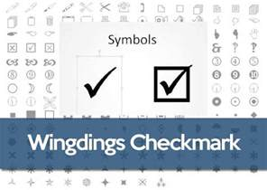 ASCII Code for Check Mark Symbol