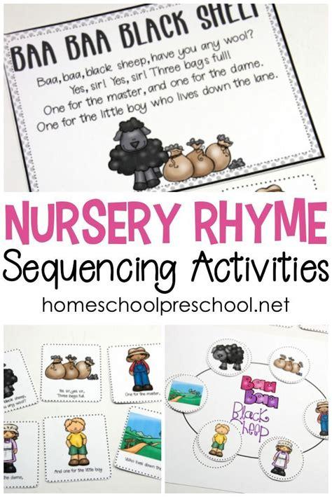 printable nursery rhyme sequencing cards  posters