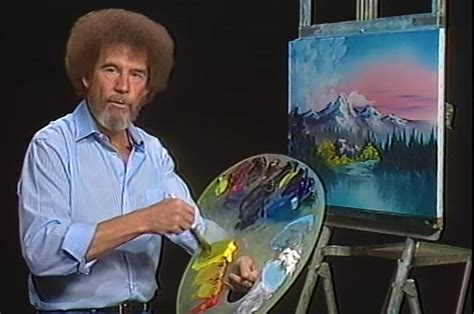 Bob Ross' Hair Was Actually Permed