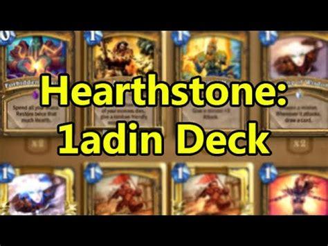 Hearthstone Fun Decks 1adin  Wowcrendor Youtube