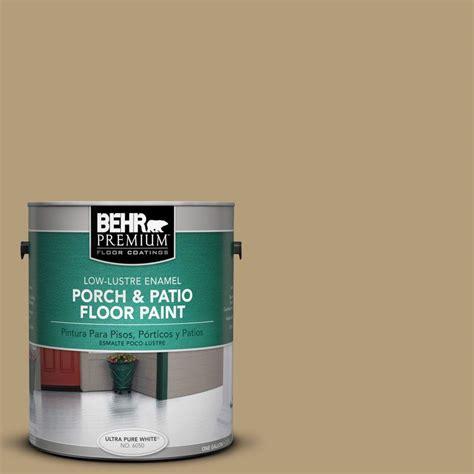 behr premium 1 gal pfc 28 desert sandstone low lustre porch and patio floor paint 630001 the