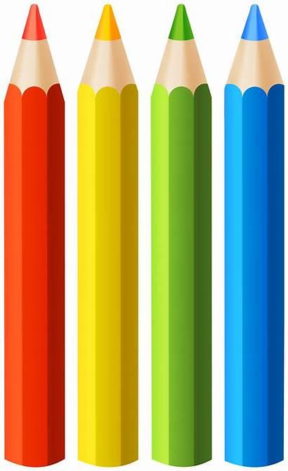 Pencils Pencil Clipart Colored Clip Transparent Yopriceville