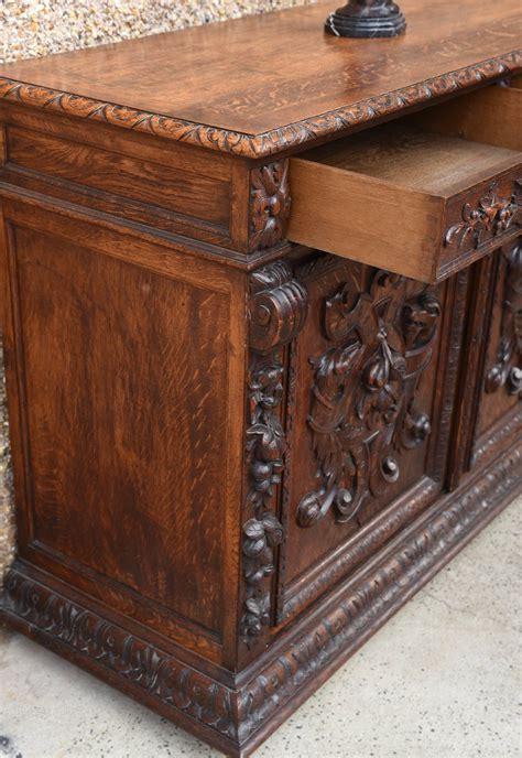 Carved Oak Sideboard by Stunning Carved Oak Sideboard Antiques Atlas