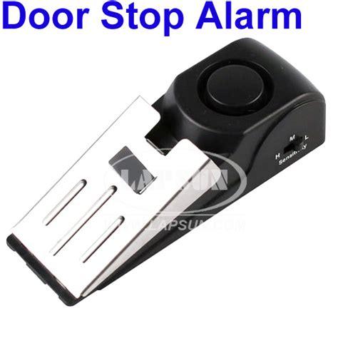 door stop alarm safety wedge security door stop easy alarm device 125db