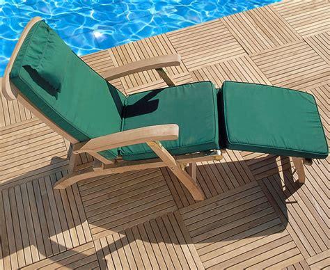 halo teak steamer chair with free cushion lindsey teak