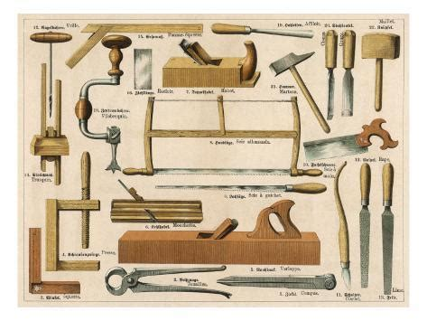 tools   carpentry  joinery giclee print