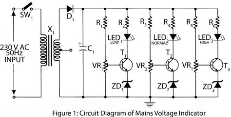Mains Voltage Indicator Electronics Project