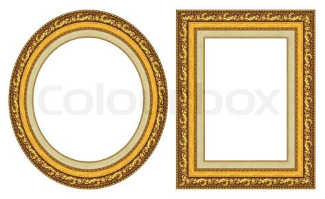 wooden frame mirror gold picture frames stock photo colourbox