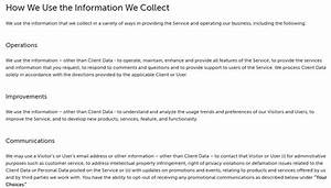 Terms Of Use And Privacy Policy Template GDPR Privacy Policy TermsFeed