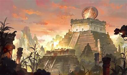 Fantasy Mayan Concept Civilization Aztec Artstation Gao