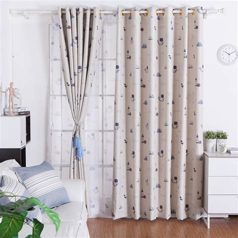 sweet and nautical theme curtains