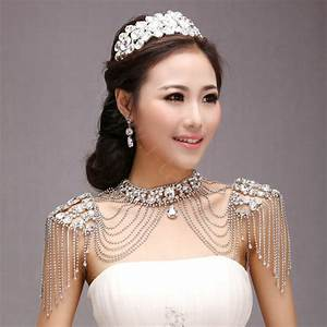buy wholesale classic luxury water drop crystal zircon With robe de mariée discount avec bijoux parure mariage
