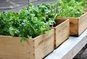 Mini Potager En Bois : blog d co nordique diy un jardin en caisses ~ Premium-room.com Idées de Décoration