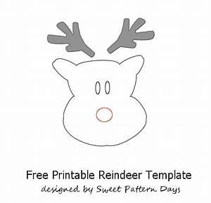 Reindeer Cut Out Templates New Calendar Template Site