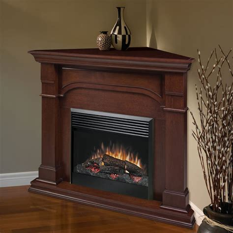 electric corner fireplace dimplex oxford cherry corner electric fireplace at hayneedle