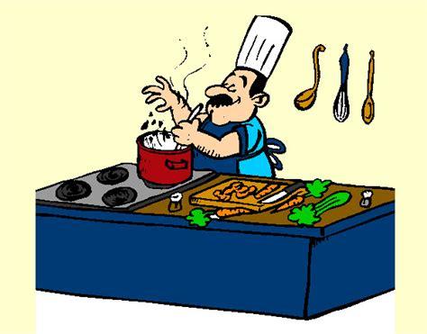 cuisine à peindre dessin de cuisinier colorie par mounita123 le 17 de novembre de 2012 à coloritou com