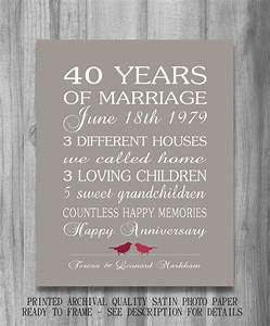 4oth wedding anniversary gift ruby personalized birds for Gift for 40 wedding anniversary