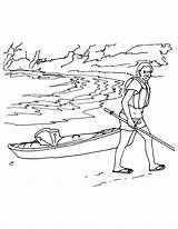 Kayak Coloring Pages Template Lady Printable Getcolorings sketch template