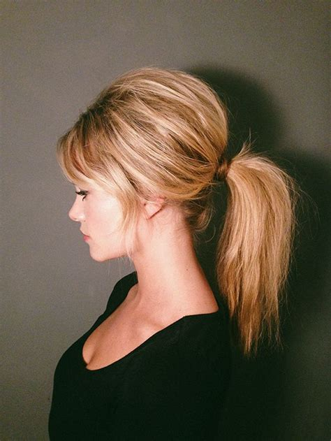60s Bangs Hairstyles by 60s Brigitte Bardot Inspired Ponytail Tutorial Hair
