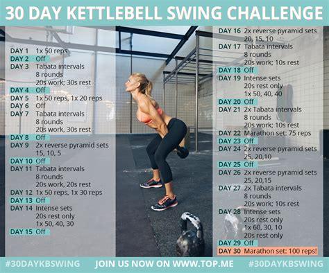 kettlebell swing workout 30 day kettlebell swing challenge fitness