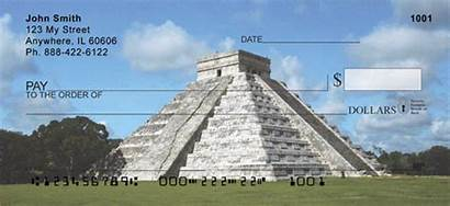 Pyramid Pyramids Mayan Checks 123cheapchecks