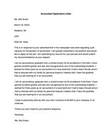 Accountant Application Letter Sample