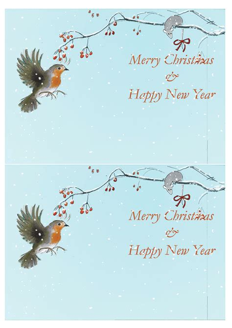 merry christmas robin berries two bad mice