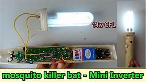 How To Make Small 14w Inverter Using Mosquito Killer Bat