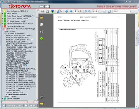 online car repair manuals free 2003 toyota echo navigation system toyota yaris verso echo verso