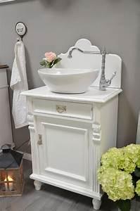 Badmöbel Shabby Chic : marbo shabby chic landhaus waschtisch von badm bel landhaus land und liebe bathrooms in 2019 ~ Orissabook.com Haus und Dekorationen