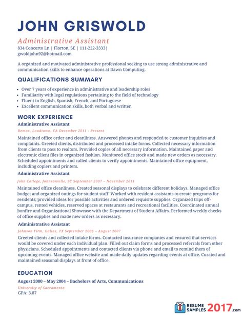 20728 exles of administrative assistant resumes resume exles 2017 administrative assistant svoboda2