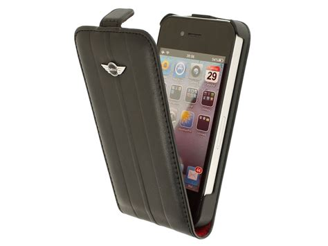 mini cooper iphone holder mini cooper stripes flip hoesje voor iphone 4 4s
