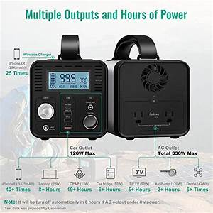 Chafon 330w Portable Power Station 296wh Cpap Backup