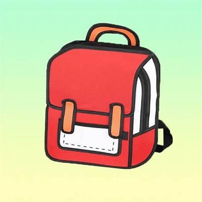 Cartoon Backpack 2d Bags Backpacks Verypeachyclothing Comic