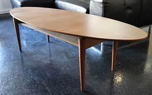 Table Basse Hauteur 60 Cm : table basse ovale en bois exotique a pietement fusele hauteur 45 plateau 170 x 60 cm salon en face ~ Nature-et-papiers.com Idées de Décoration