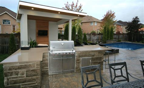 Ideas For Decorating Kitchen Countertops - oakville cabana bbq island pool contemporary pool toronto by toronto custom concepts