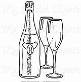 Bottle Coloring Pages Wine Empty Beer Line Champagne Clipart Drawing Glasses Jar Liquor Printable Getdrawings Getcolorings Flute sketch template