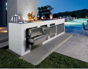 best of modern outdoor kitchen with pool orchidlagooncom With cuisine d ete moderne